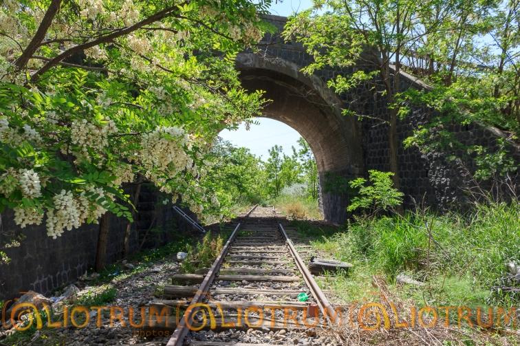 ponte, linea ferroviaria Motta S. Anastasia-Regalbuto